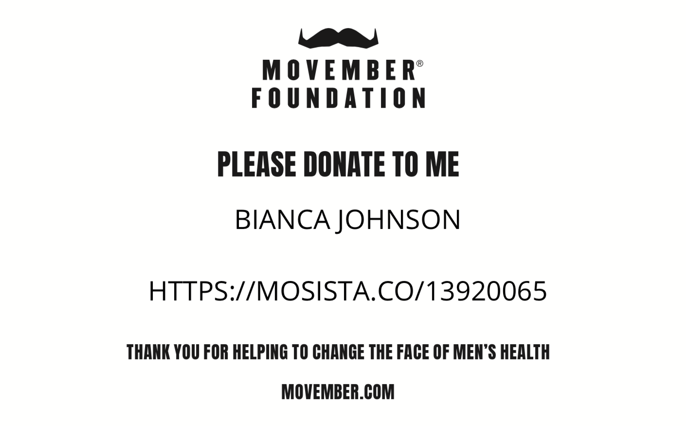 Movember Link